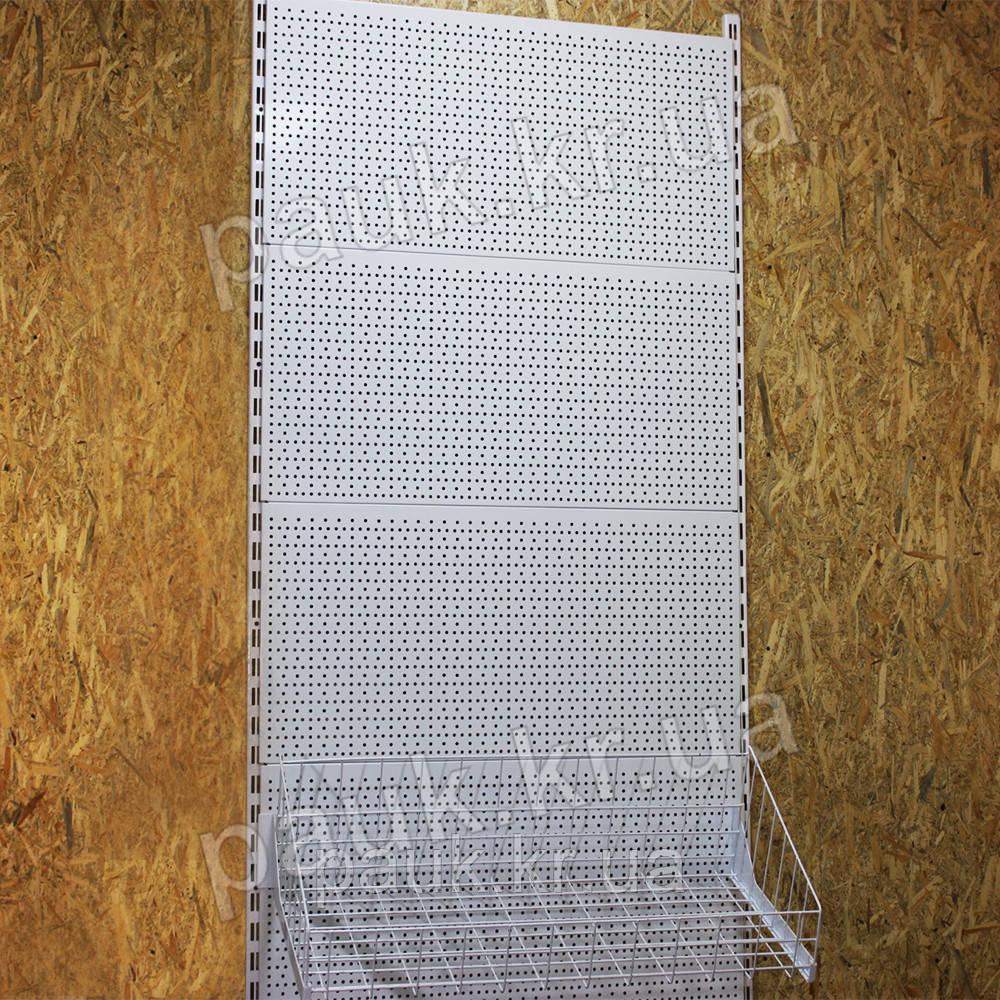 Настінний стелаж Н1900 ТИП 7, перфоровані панелі+кошик