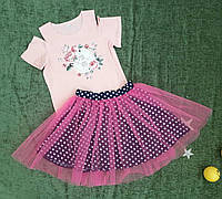 Комплект на девочку (юбка+кофта), размер 116-134