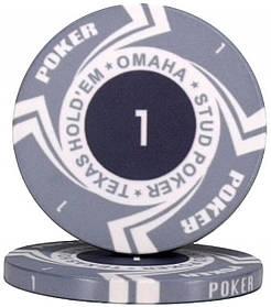 """Керамическая фишка """"Poker Style"""" номинал 1"""