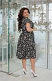 Красивое и легкое платье в мелкий принт, хорошо для работы в офисе р.50-52,54-56,58-60,62-64 код 73Е, фото 3