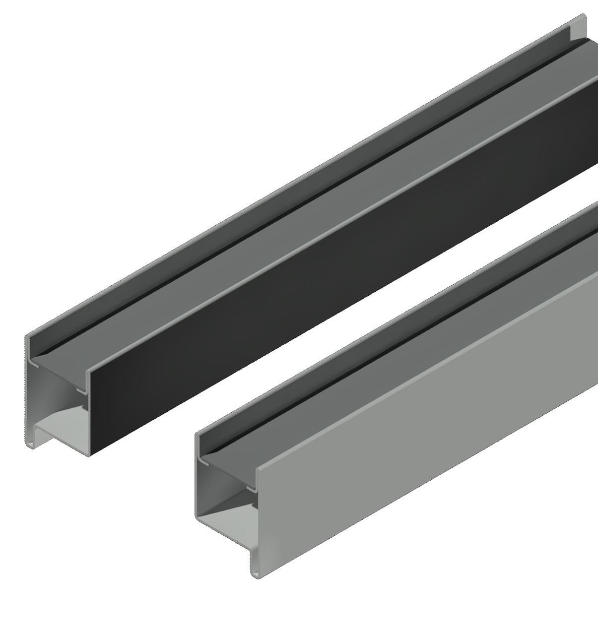 Профиль створки 69 мм. + швеллер15*40*15,для ставень с поворотными ламелями,пара правый и левый. м-