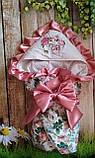 Нарядный конверт, одеяло для новорожденного весна/лето, фото 5