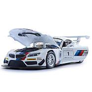 Автомодель Автопром BMW Z4 GT3 (1:24) Белый (68260A  - белый), фото 5