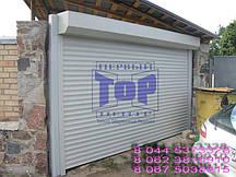 Защитная ролета для въезда во двор Алютех ( ALUTECH ) AR/39 размер 1800x1800 мм