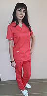 Женский хирургический костюм Классик коттон короткий рукав, фото 1