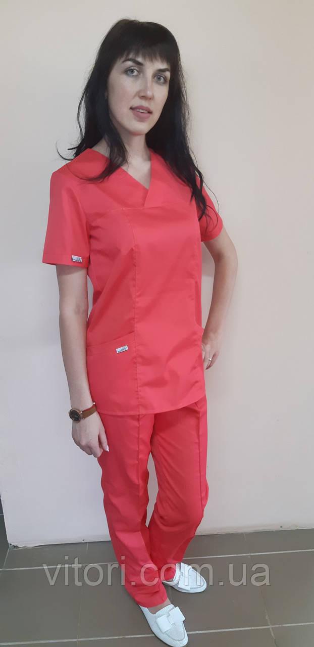 Женский хирургический костюм Классик коттон короткий рукав