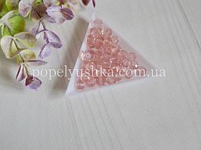 Намистини рондель рожеві прозорі 6*4 мм (50 шт)