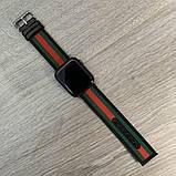Ремешок Gucci для часов Apple Watch 19387 Black Green Red, фото 2
