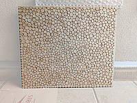 Панель декоративна ручної роботи з зрізами дерева для кухонного фартуха та декору стін (розміри будь які)
