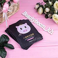 Маска-салфетка для лица йогуртовая со свинкой черная IMAGES Piggy Yogurt Refreshing