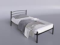 Одноместная кровать Маранта-мини Tenero 80х200 см черная металлическая с изголовьем на ножках
