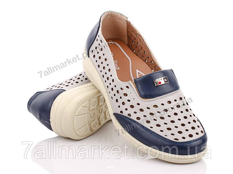 """Туфли женские стильные Лето 7819 blue-grey (8 пар р.36-42) """"Wei Wei"""" недорого оптом от прямого поставщика"""