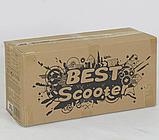 Самокат 5в1  Best Scooter 78266, чёрно-оранжевый, PU колеса, подсветка колёс, фото 5