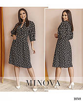 Чарівне жіноче плаття в принт, розмір від 48 до 58, фото 3