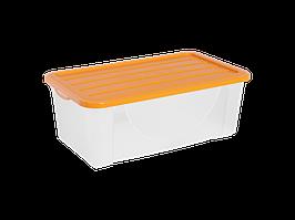 Емкость для хранения вещей с крышкой  6л. (светло-оранж.)