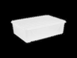 Емкость для хранения вещей с крышкой 22л. (прозрачная)