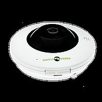 Купольная IP камера для внутренней установки GreenVision GV-075-IP-ME-DIА20-20 (360) POE, фото 1