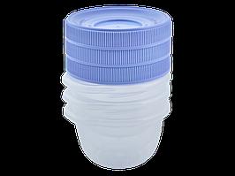 """Набір контейнерів для харчових продуктів """"Омега"""" 0,285 л (3 шт) (_пр./бузковий)"""