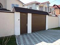 Защитная ролета для въезда во двор Алютех ( ALUTECH ) AR/555 размер 1800x1800мм с приводом AN-Motors NK1/10-16, фото 1