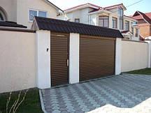 Защитная ролета для въезда во двор Алютех ( ALUTECH ) AR/555 размер 1800x1800мм с приводом AN-Motors NK1/10-16