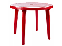 Стол круглый (красный)