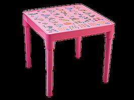 """Стол детский """"Азбука английская"""" (розовый)"""