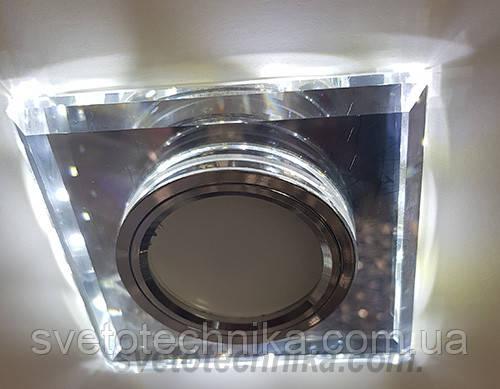 Встраиваемый  светильник Feron 8170 MR16 с LED подсветкой