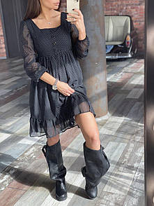 Легкое черное платье