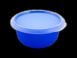 Миска кухонная с крышкой 1,75л. (_синяя/пр.)