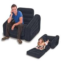 Intex Надувное кресло 66551 NP (2) 117х224х66 см., раскладывается, с подстаканником, в коробке