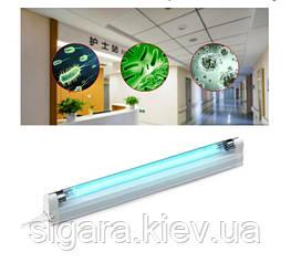 Бактерицидна кварцова лампа 8W з озоном , бактерицидний опромінювач