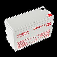 Аккумулятор гелевый LPM-GL 12V - 7 Ah