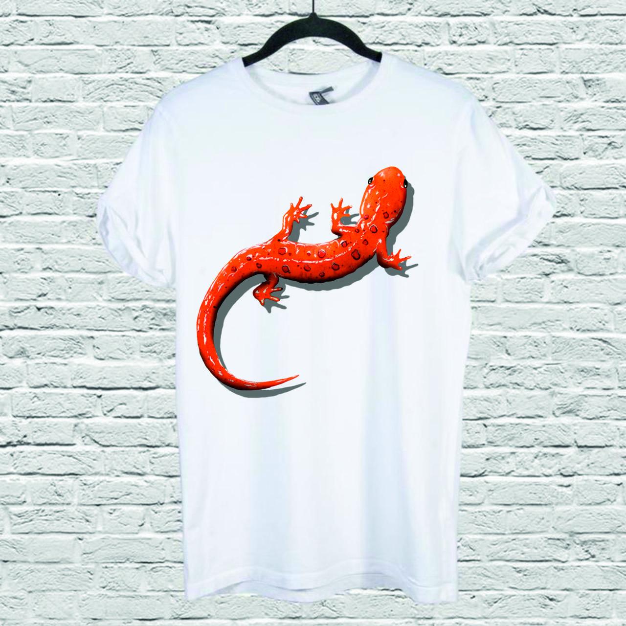 Футболка с принтом Red Spotted Salamander