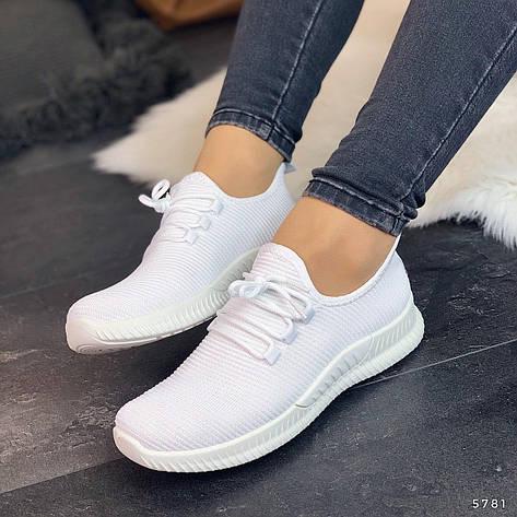 Кросівки жіночі білі. Кросівки жіночі з текстилю. Кеди жіночі. Мокасини жіночі. Кріпери жіночі, фото 2
