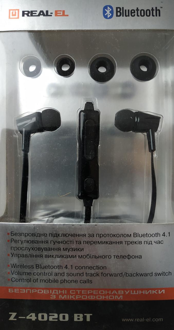 Bluetooth-гарнитура REAL-EL Z-4020 BT Black