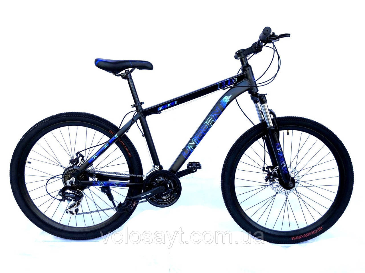 "Велосипед Unicorn - Rocket 26"" размер рамы 17"" Black-Blue"
