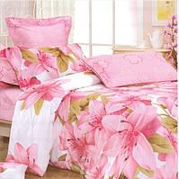 Полуторное постельное белье Gold розовое