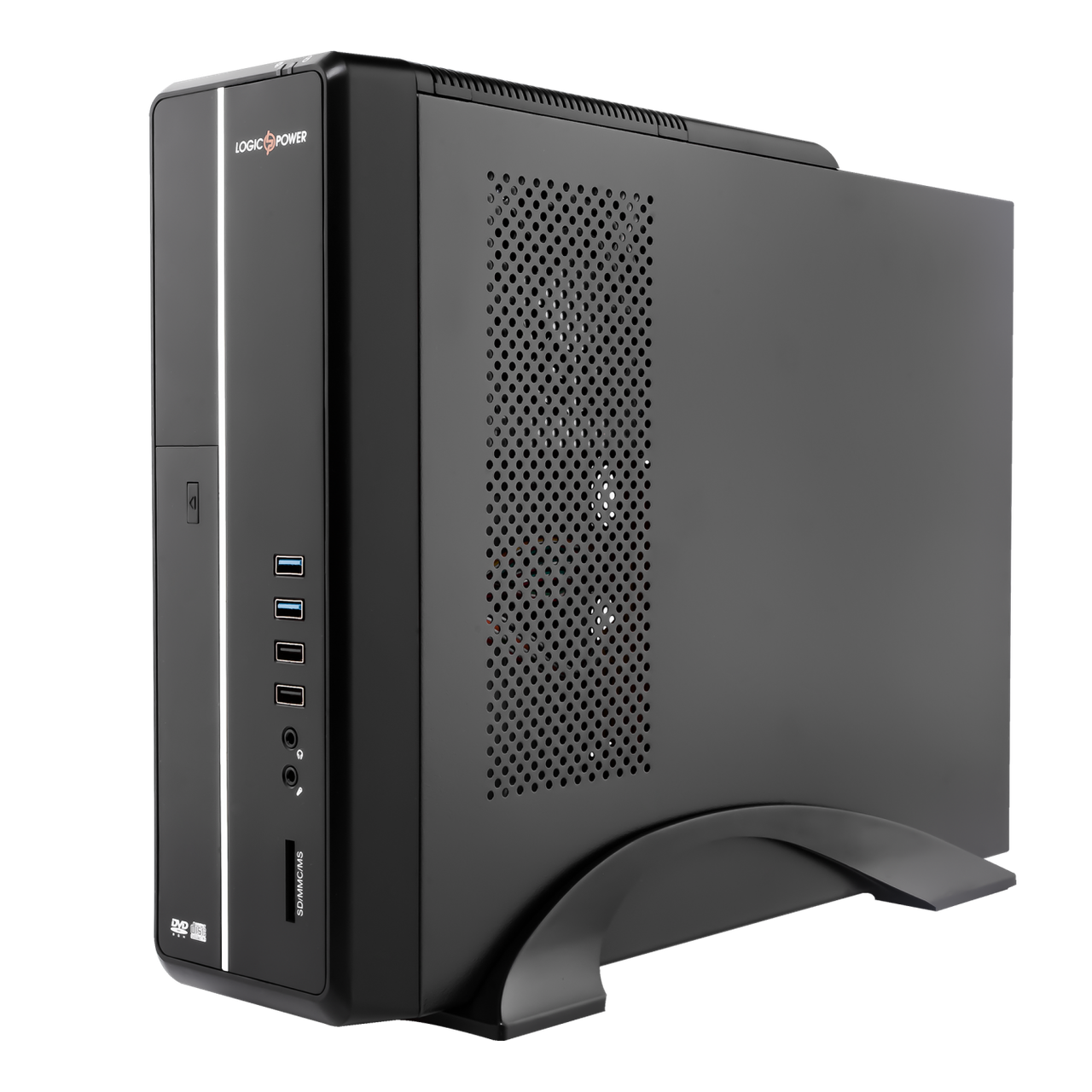 Корпус Slim LP S602 BS 2хUSB2.0, 2хUSB3.0 + Блок питания Micro ATX 400W 8см