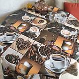 "Качественная Клеенка на основе Декорама ""Кофе"" ширина 140 длина 20 метров. Dekorama, фото 2"