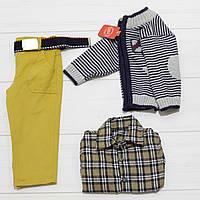Комплект для мальчика тройка (брюки+кофта в полоску+рубашка длинный рукав),Ramada