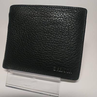 Черный кожаный мужской кошелек портмоне с зажимом для денег Balisa WB1-2609