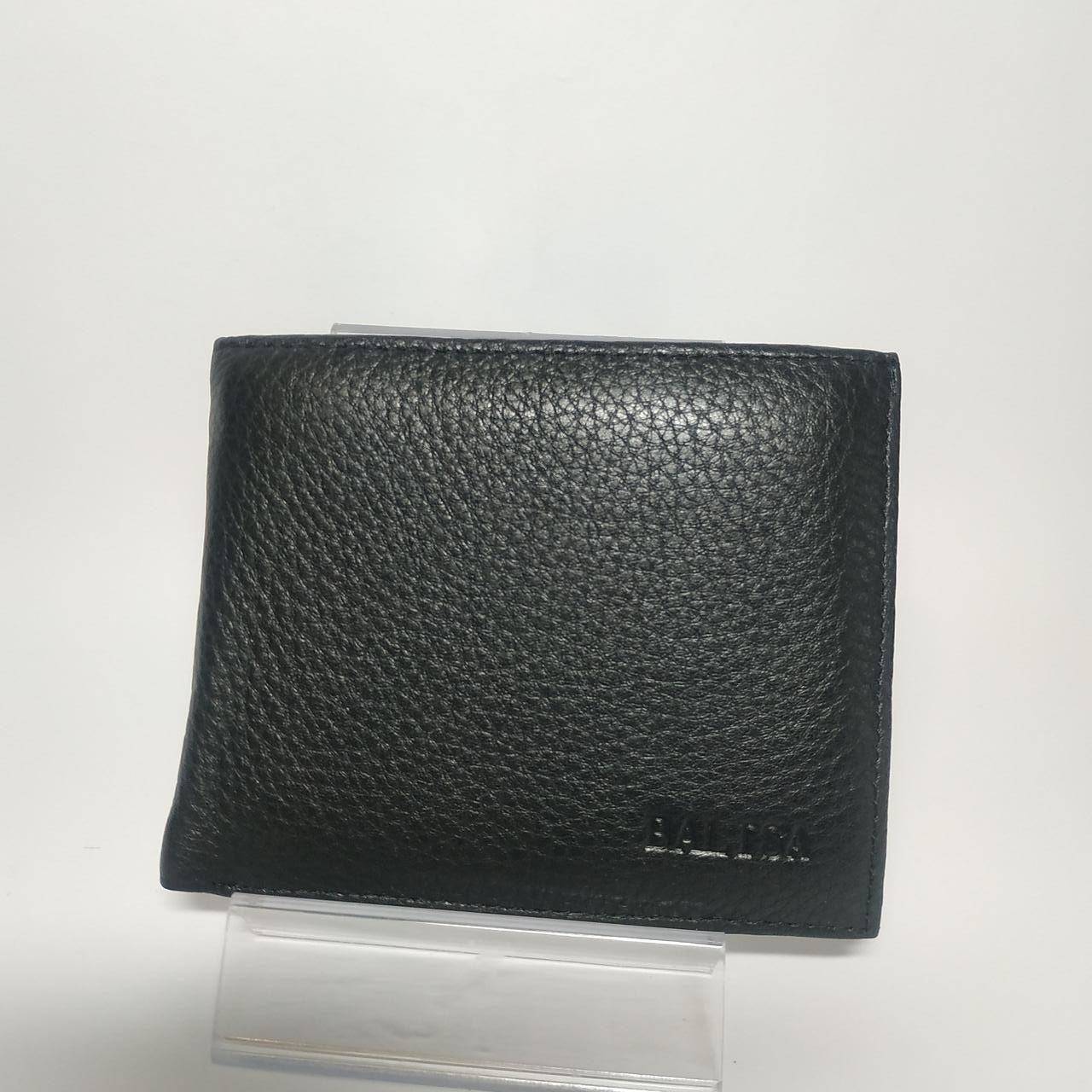 Черный кожаный мужской кошелек портмоне с зажимом для денег Balisa WB1-2602