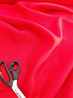 Льняная сорочечная ткань красного цвета
