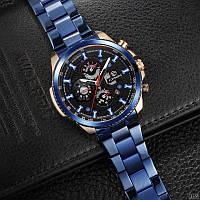 Часы механические с автоподзаводом Forsining Blue-Cuprum-Black