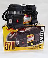 Компрессор автомобильный VOIN, VL-570, 150 psi/15 Amp, 40л/ прикур.