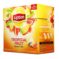 4-чай Липтон Tropik Fruit Tea в пирамидках 20шт