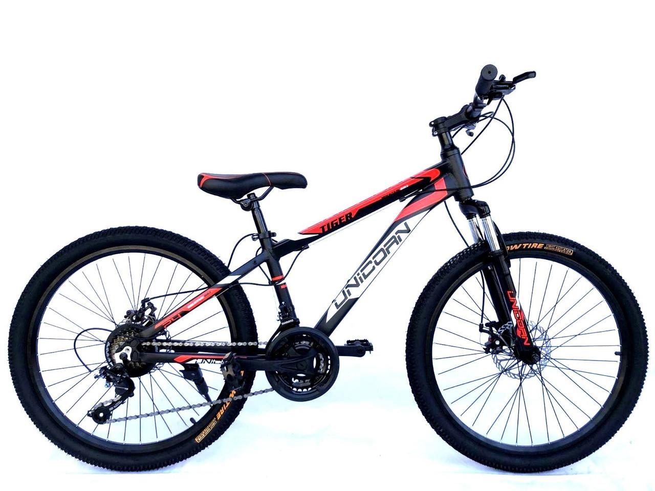 "Велосипед Unicorn - Tiger 24"" размер рамы 13"" Black-Red"