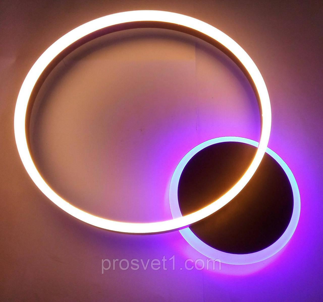 Светодиодная люстра круги с пультом B7707 CF 75W