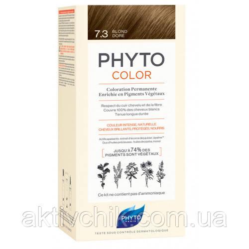 Крем-фарба Phyto PhytoColor Treatments На основі натуральних барвників тон 7.3 золотисто-русявий