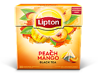 4-чай Липтон Peach Mango Fruit Tea в пирамидках 20шт